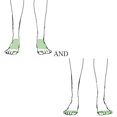 足の甲&指SET